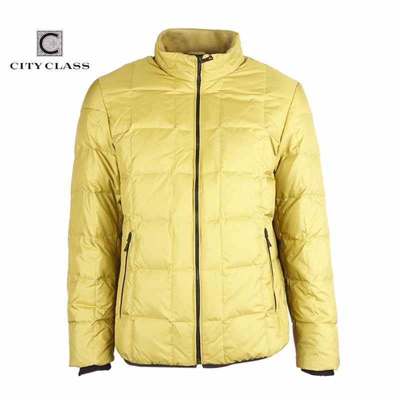 Фотография CITY CLASS New Mens Autumn Jackets And Coats Fashion Casual Slim Fit Sewing Light Down Stand Collar Outwear Free Shipping 14406