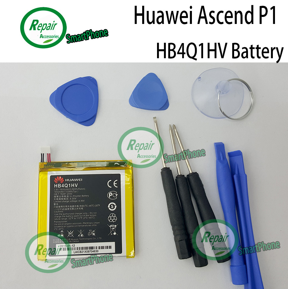 Huawei P1 battery 1850mAh 100 Original HB4Q1HV For Huawei Ascend P1 T9200 U9200 U9500 D1 mobile