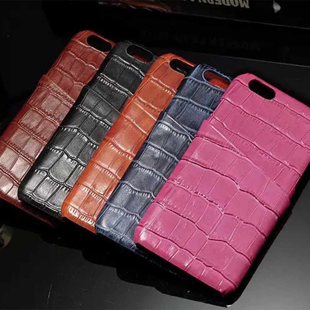 100% Cowhide Luxury Crocodile pattern leather Cards Case Black Cover For Apple Iphone 6 Plus/6S Plus 5.5-inch Free Shipping(China (Mainland))