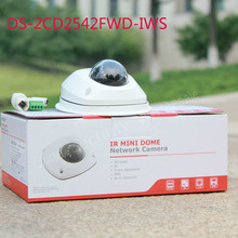 free shipping english version DS-2CD2542FWD-IWS Audio 4MP WDR Mini Dome Network Camera  with WIFI(China (Mainland))