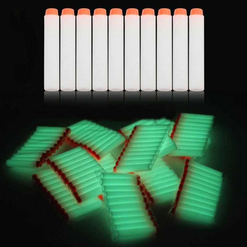 20 Pcs/lot Soft bullet toy gun bullets EVA fluorescent luminous soft bullet 7.2CM Toy Gun Soft Bullet Nerf(China (Mainland))
