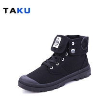 2016 New Fashion Boots Men Canvas Shoes Ankle Boots Casual Design The quality of light Shoes Prevent slippery wear-resisting(China (Mainland))