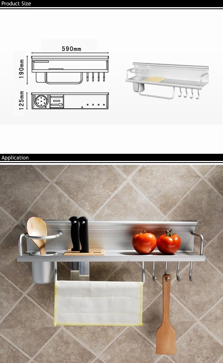 Buy GOHIDE good storage aluminum rack shelves kitchen tools holder knives shelf kitchen Seasoning bottles rack/holder/utensils racks cheap