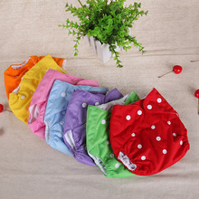 7 colors 0-2 years  nappy adjustable baby Shorts diaper pants urine pocket  breathable Shorts(China (Mainland))