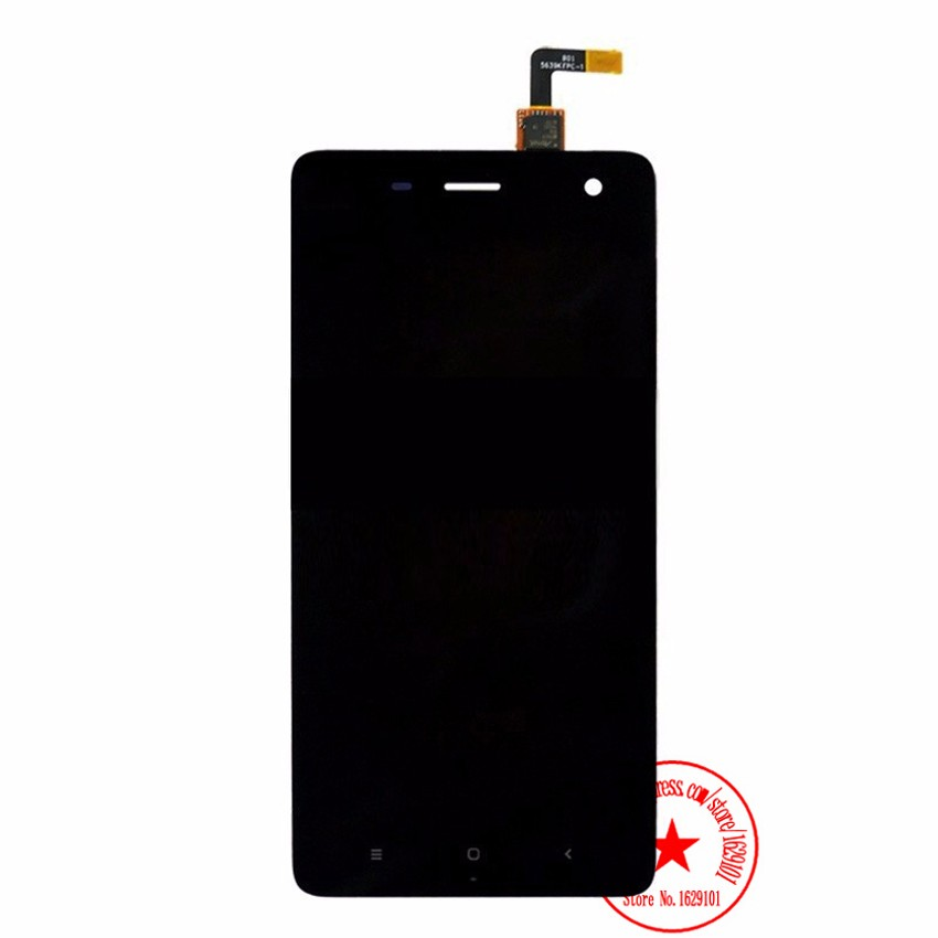 High Quality Black MI4 Touch Screen Digitizer + LCD Display Assembly For Xiaomi 4 M4 Mi4 Mobile Phone Replacement Parts