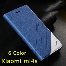 6 Colors For Phone Xiaomi m4s mi4s Original Tscase Brand,Leather Stand Flip Cover Smart Case For Xiaomi M 4S M4S Mi4S Mi 4S(China (Mainland))