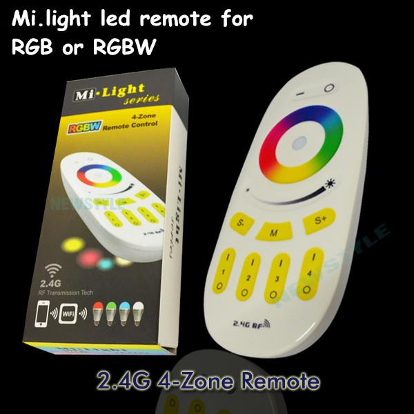 1pcs dc12v dc24v 4 way channel 2.4Ghz wifi wireless mi light rgb/ rgbw led remote control 4 zones to control rgbw lighting<br><br>Aliexpress