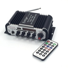 With 6.5mm Mic In Port Mini Karaoke Amplifier DC 12V USB\SD MP3 Player DAC FM Radio Power Amplificador(China (Mainland))