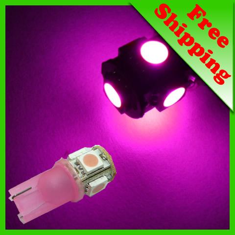 Здесь можно купить  100x T10/194/168/W5W 5-SMD Pink High Power LED Light Bulb #987  Автомобили и Мотоциклы