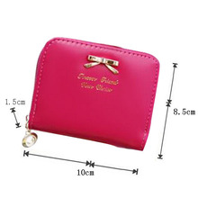 Hot Fashion Summer Style Colorful Women Bag Mini Faux Leather Coin Purse Around Wallet Card Holders