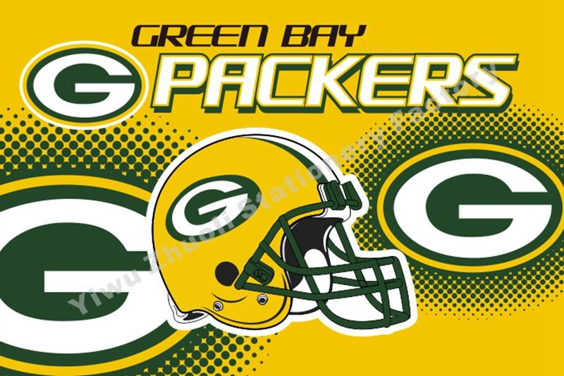 Green Bay Packers USA 2015 Helmet NFL Premium Team Football Flag 3X5FT GBPH02(China (Mainland))