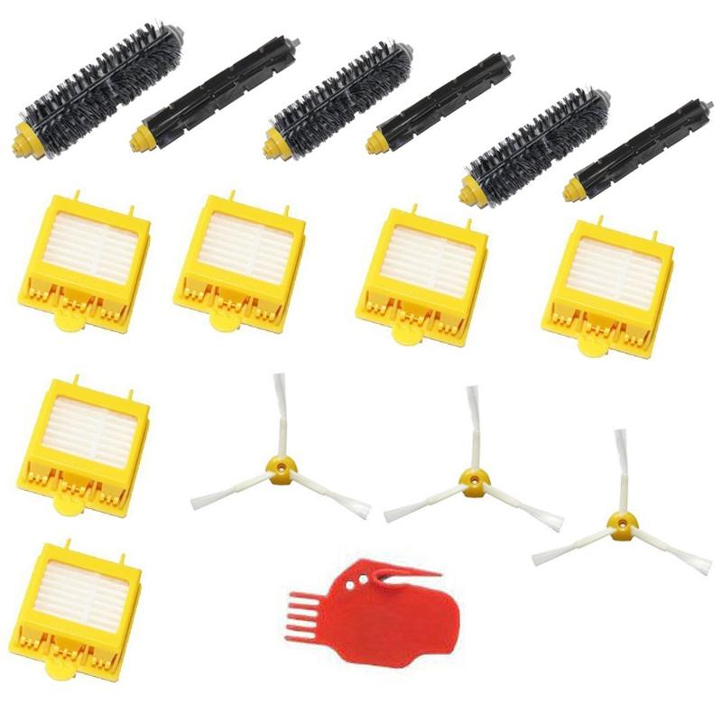 Free Post New Hepa Filters & Brush Pack Kit 3 Armed for iRobot Roomba 700 Series 760 770 780(China (Mainland))