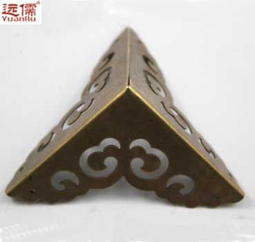 Chinese bronze imitation Ming Confucianism far large wooden sheet copper trim angle YRE0863 angle 6.5CM(China (Mainland))
