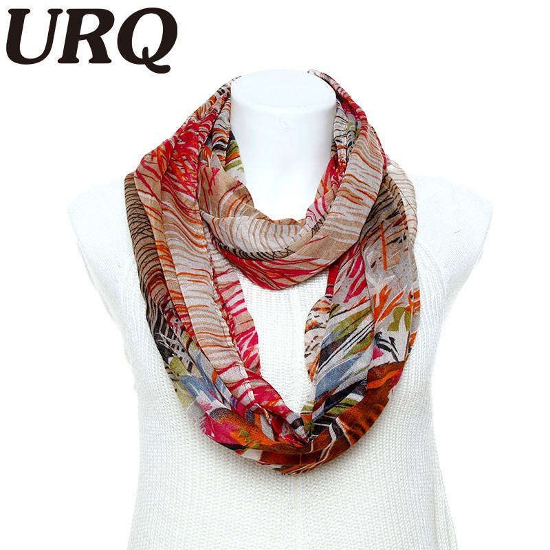 Fashion Infinity scarves Cute Colorful Spring Printed Womens Tube scarves Wrap Woman loop scarfs V9A18225(China (Mainland))