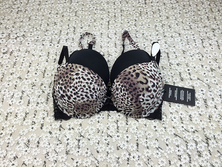 3/4 cup push up bra, Leopard 32c 32d 34b bra, minimizer bra for women 2015 free shipping(China (Mainland))