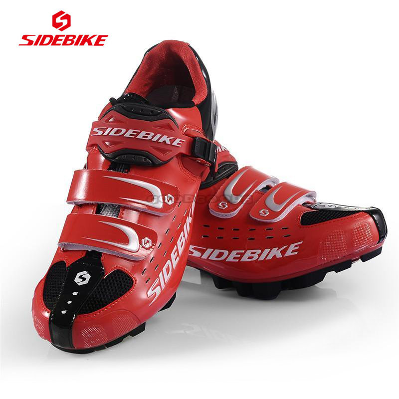 2014 Hot Sale Sidebike MTB Bike Shoes White Red Cycling shoes Self-locking Ride Bicycle Shoes cycling shoes road