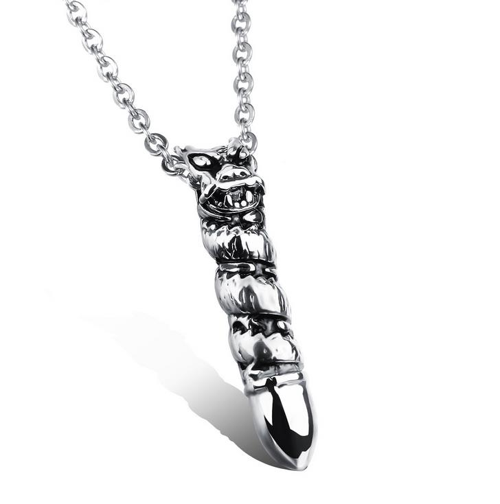 2016 New mens Titanium 316L Stainless steel pendant necklace valentine's day gift necklaces & pendants Jewelry Punk collares(China (Mainland))