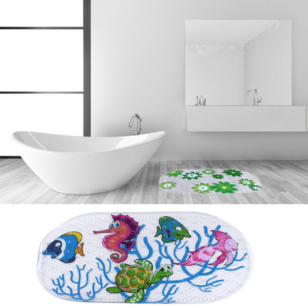 bargain 1x kids cartoon bathroom anti slip pvc safety bath shower online buy wholesale pvc shower from china wholesalers 39cmx69cm kids non slip cartoon bath