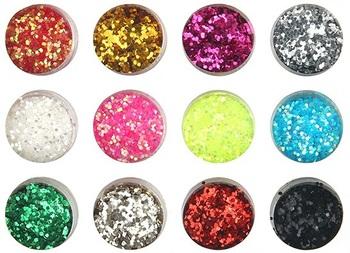 Новый 12 цветов мода ногтей украшения блестками супер яркий флэш-порошок ногтей порошок ...