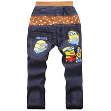 Kids Fashion Minion Clothes Boys Jeans Pants For Children Slim Jeans Casual Pants(China (Mainland))