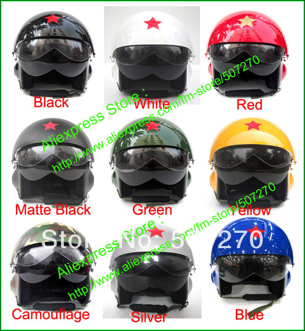 New Popular TK Chinese Military Air Force Jet Pilot Open Face Motorcycle Helmet &amp; Visor SIZE M , L , XL , XXL<br><br>Aliexpress