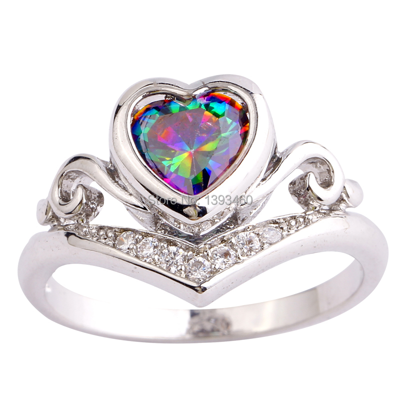 Fashion Jewelry Mysterious Rainbow Sapphire Silver Ring Fascinate Size 6 7 8 9 10 Women - WEILING Co.,Ltd 2014 store