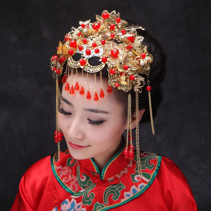 Chinese Traditional Jewelry Classical Bridal Headdress