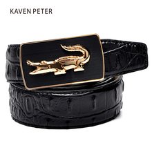 Buy 2017 Crocodile Pattern Belt Fashion Luxury Alligator Automatic Buckle Belts Without Buckle Tooth Strap Novelty Men's Belt for $9.62 in AliExpress store