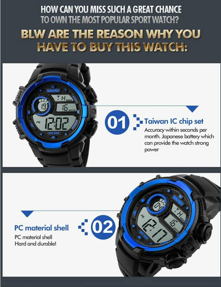 Цифровой будильник ночник skmei пары женщин спортивные часы он женский водонепроницаемый LED валентина подарок электронные часы