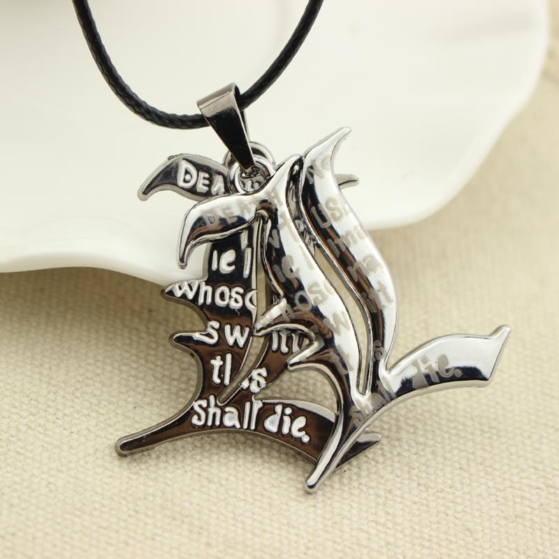 Free Shipping Death Note Double l Yagami Non Mainstream Necklace Smart Anime Fashion Jewelry Pendant Cosplay