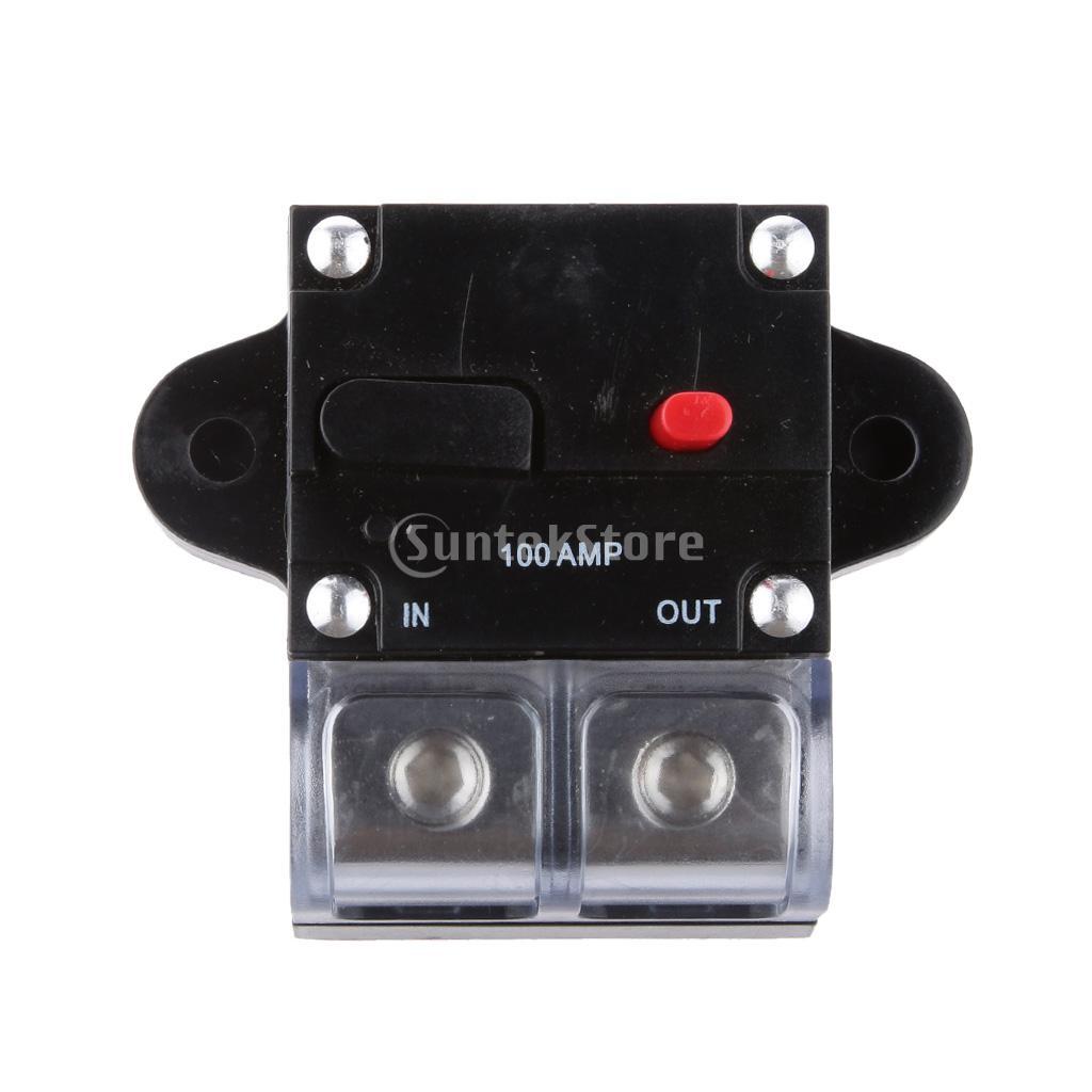 Alta Corrente 100 Amp 0 ou 4 Bitola AWG Manual Reset Circuit Breaker Fusível de Áudio Do Carro de 12 Volts(China (Mainland))