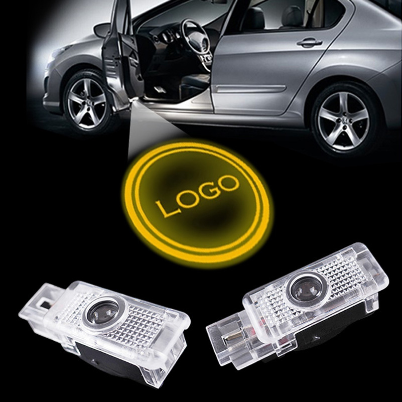 2x LED Car logo projector door laser logo light for Mercedes Benz W203 C Class SLK CLK SLR(China (Mainland))