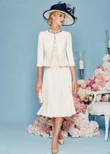 Buy Mother Bride Dresses Jacket Chiffon Wedding Guest Dress Short Groom Mother Dress vestido de la madre de la novia for $104.58 in AliExpress store