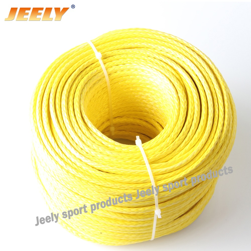 Free shipping 150m 5mm winch towing rope uhmwpe hollow braid rope Dyneema(China (Mainland))