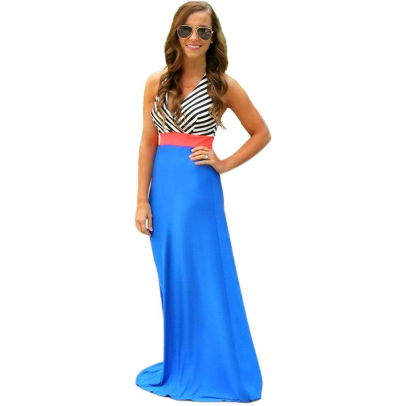 Brilliant Women Fashion Short Sleeve O Neck Chiffon Dresses Casual Long Dress