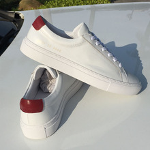 COMMON PROJECTS Casual Shose Solid Genuine Leather Man Woman Spring Autumn Lace-Up Flat with Grain Leather Breathable Shoes