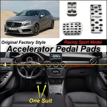 Car Accelerator Pedal Pad / Cover Factory Sport Racing Design Mercedes Benz Class MB W176 AT Foot Throttle - NOVOVISU Store store