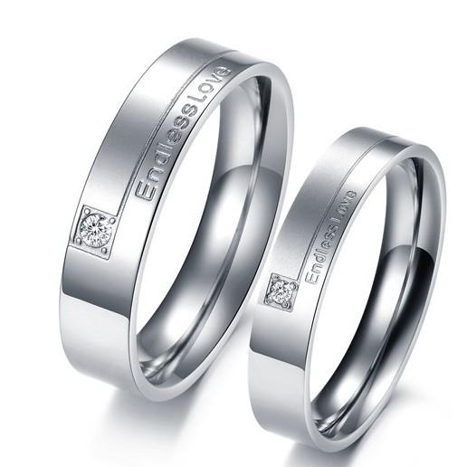 Endless Love Matching Wedding Rings For Men And Women Luxury Couple Rings Vin