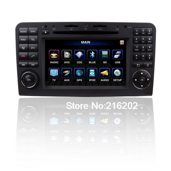 Custom Car DVD Player GPS Radio System with 7& 39 HD Touch Screen For Mercedes Benz GL 350.450ML350.450 E5171(China (Mainland))