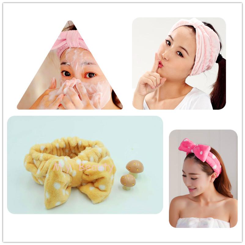 Elastic Ribbon Korean Style diadema flores Coroa Kid for Make-up Grooming Hair Bows Head Chain Free Shipping(China (Mainland))