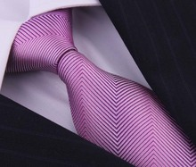 Purple Striped 100 Silk Ties Corbatas For Gentlemen Wedding Dress Gravatas Masculinas Seda High Quality Neckties