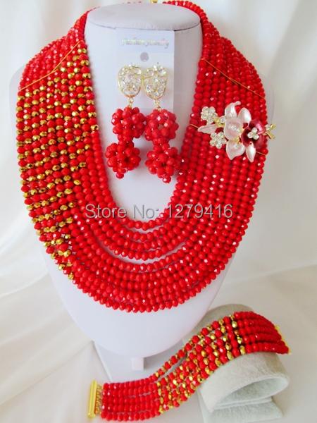 Glamorous Crystal Beads Nigerian Wedding Beads , African Beads Jewelry Set C1562<br><br>Aliexpress