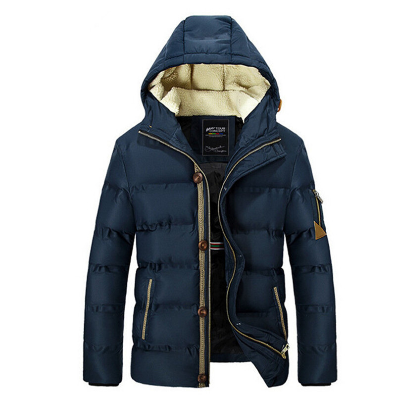 2015 New Style Cotton Padded Jacket The Latest Winter Men s Clothes Korean Slim Male Hooded