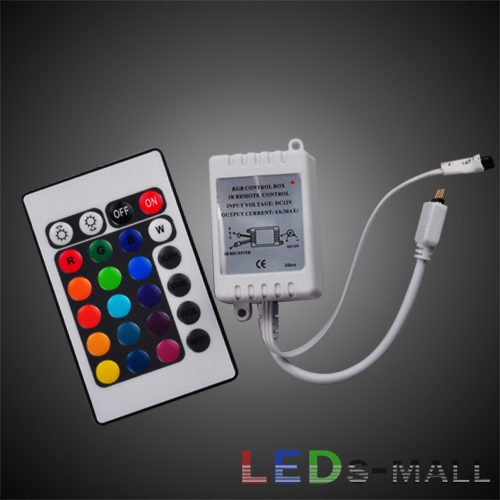 24key IR remoter controller for RGB LED strip,4A*3,Max:144W, Input DC 12V,Control in 5meter,Control for 5050 3528 RGB LED strip(China (Mainland))