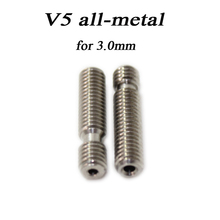 8 Type! 3D Printer Nozzle throat with Teflon tube or All metal or 4.1mm Through-hole for 1.75mm or 3.0mm E3D V5 & E3D V6 J-Head(China (Mainland))