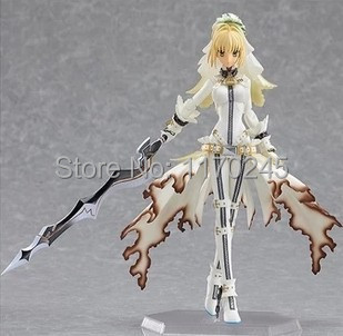 Free Shipping 14cm/ 5.5 High quality Japanese anime figma  Fate Stay Night Saber Lily PVC Action Figure Collection Toys<br><br>Aliexpress