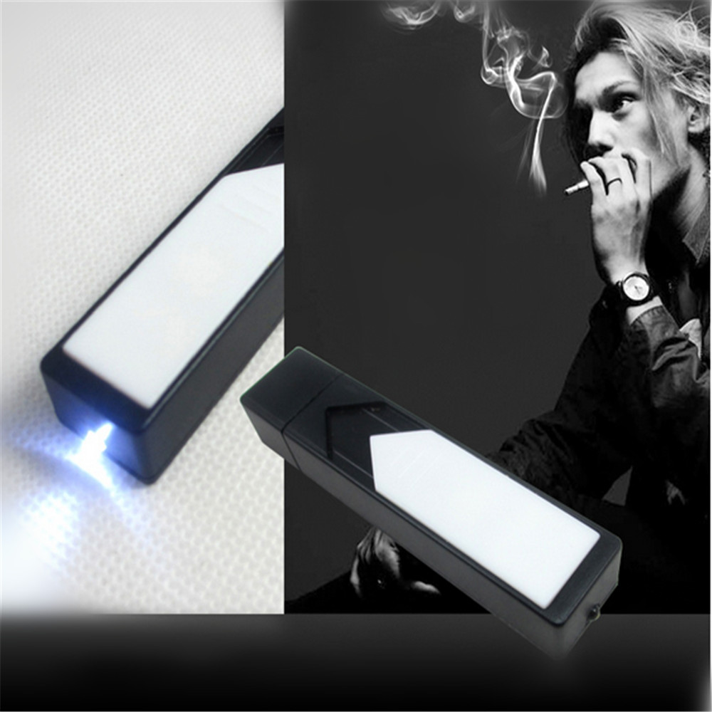 2016 hot USB rechargeable lighter creative windproof gifts electronic cigarette lighter with small electric(China (Mainland))