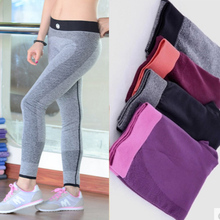 New women Gym fitness quick drying trousers outdoor professional running pant legging apparats elastic gym sport legging pants(China (Mainland))