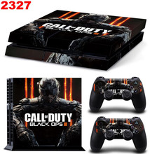 Black Ops 3 New Vinyl Skins Sticker for Sony PS4 PlayStation 4 and 2 Controllers Skins Cover