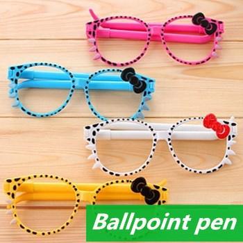 60 pcs/Lot Sunglass ballpoint pens Kawaii Stationery bulk glass ballpen Caneta gift Office accessories school supplies 6226(China (Mainland))